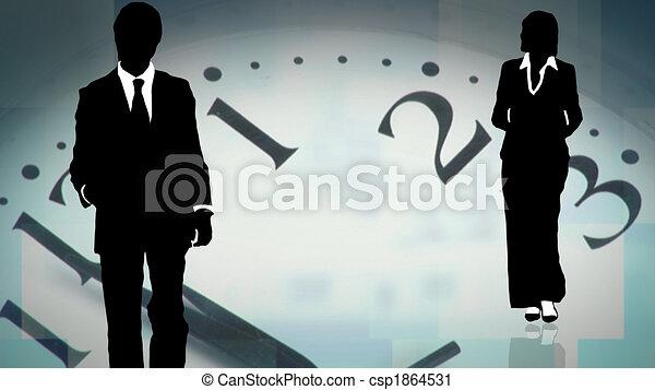 チーム, ビジネス, 仕事, ユニゾン, 一緒に, 若い - csp1864531