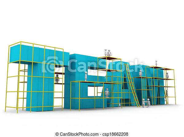 チーム, 概念, 建物 - csp18662208
