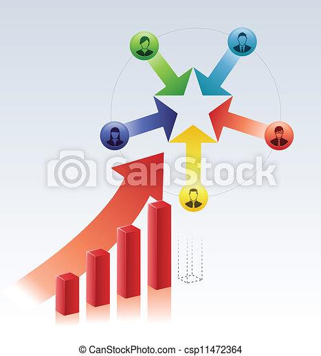 チーム, 金融の目標, ターゲット - csp11472364