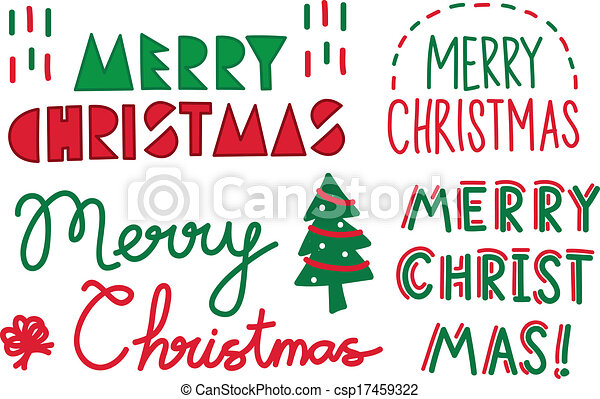 テキスト, クリスマス - csp17459322