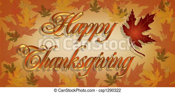 テキスト, 幸せ, 感謝祭, 3d - csp1290322