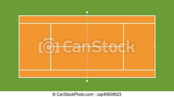 テニスコート イラスト 法廷 Illustration 上 テニス イラスト
