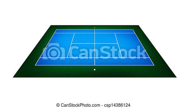 テニスコート イラスト