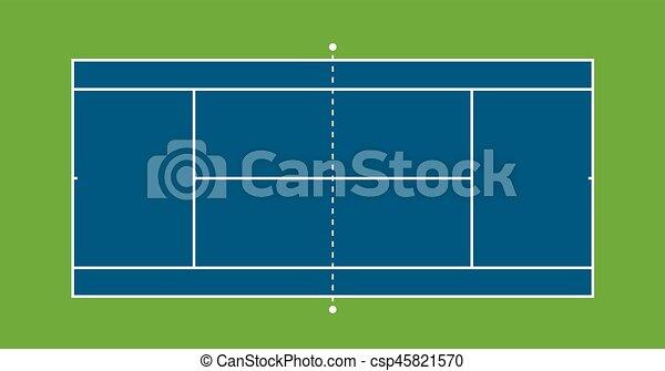 テニスコート イラスト ハードコート Illustration 上 テニス