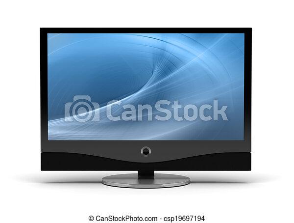 テレビ, high-definition - csp19697194