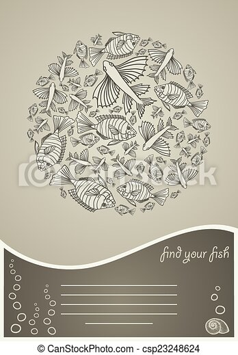 テンプレート, デザイン, card. - csp23248624