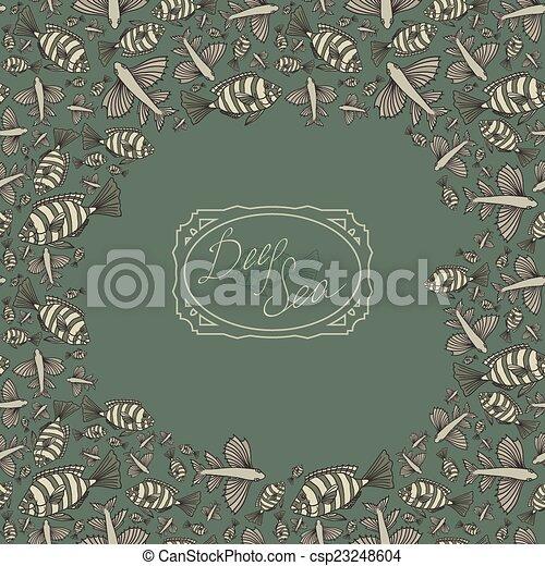テンプレート, デザイン, card. - csp23248604
