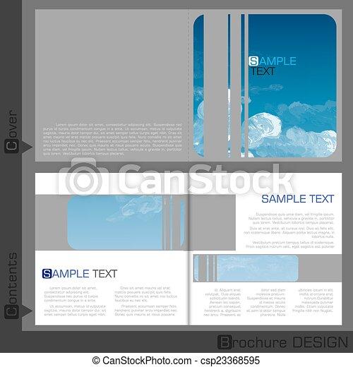 テンプレート, パンフレット, デザイン - csp23368595