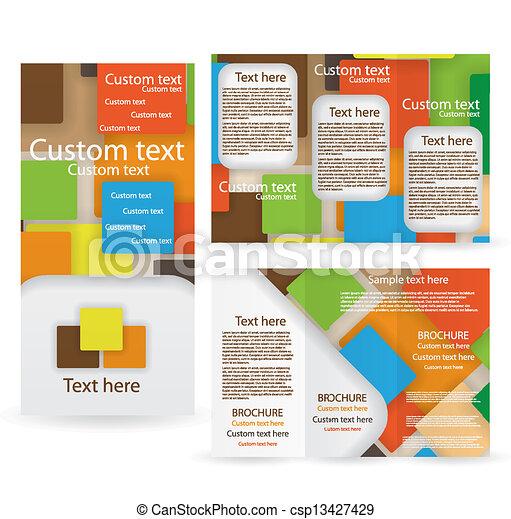 テンプレート, パンフレット, ベクトル, デザイン, レイアウト - csp13427429