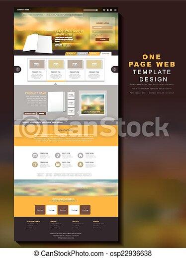 テンプレート, ページ, 1(人・つ), ウェブサイト, デザイン - csp22936638