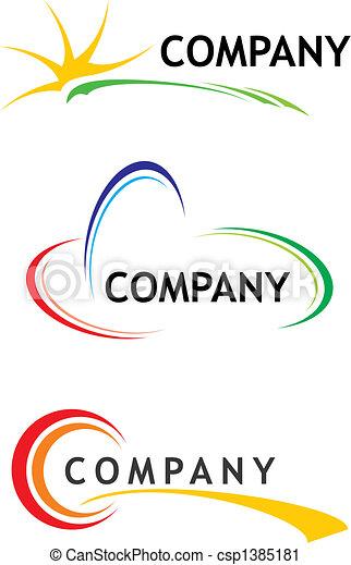 テンプレート, ロゴ, 企業である - csp1385181