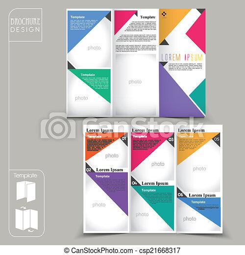 テンプレート, 幾何学的, 現代, パンフレット, 広告, 概念 - csp21668317
