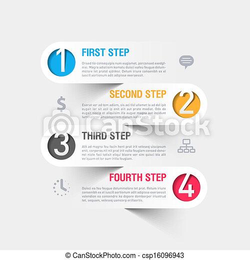 テンプレート, 現代, infographics - csp16096943