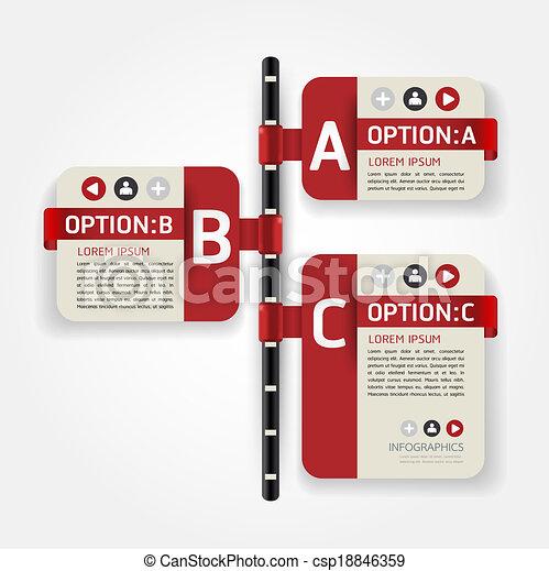テンプレート, 番号を付けられる, 使われた, ライン, infographics, デザイン, /, ベクトル, タイムライン, ウェブサイト, 切抜き, 旗, 横, グラフィック, 現代, ありなさい, レイアウト, ∥あるいは∥, 缶 - csp18846359