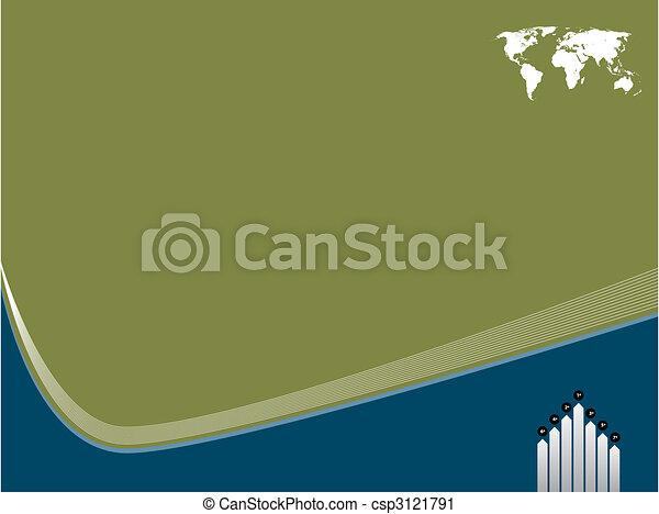 テンプレート, 背景, 世界地図 - csp3121791