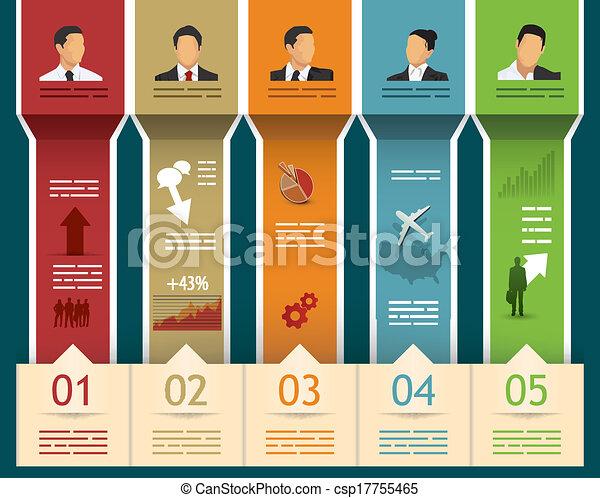 テンプレート, infographics - csp17755465