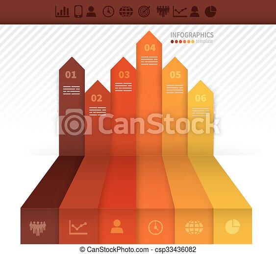 テンプレート, infographics - csp33436082