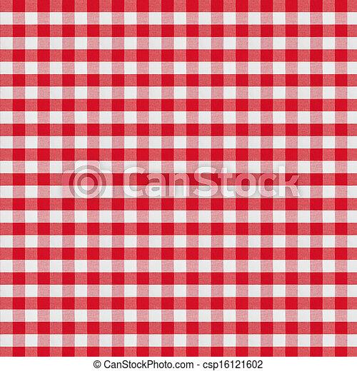 テーブルクロス, checkered, 生地, 赤 - csp16121602