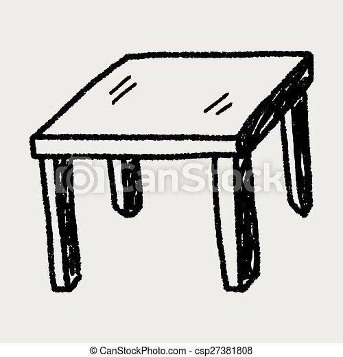テーブル, いたずら書き - csp27381808
