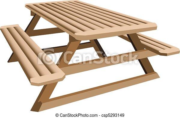 テーブル, ピクニック - csp5293149