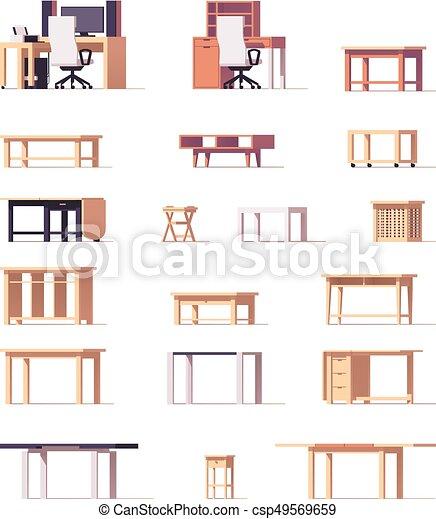 テーブル, ベクトル, セット - csp49569659