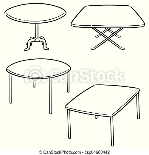 テーブル, ベクトル, セット - csp64683442