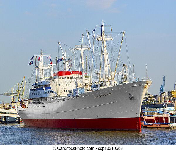 ディエゴ, 歴史的, san, 貨物船, ハンブルク - csp10310583