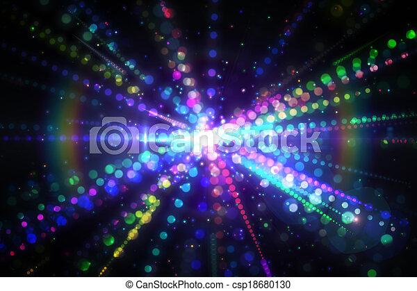 ディジタル方式で生成された, レーザー, 背景 - csp18680130