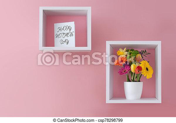 ディスプレイ, 幸せ, 日, 花, 母, 挨拶 - csp78298799