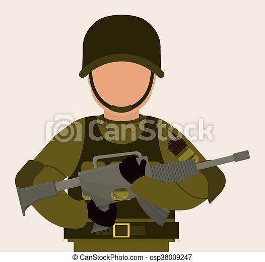 デザイン イラスト 軍隊 Illustration 軍隊 上に 背景 ベクトル