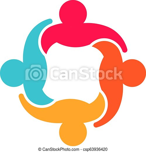 デザイン, グループ, 人々, チームワーク, 協力, ロゴ - csp63936420