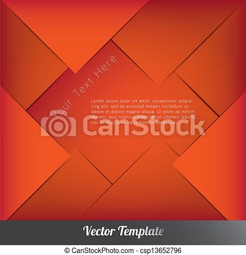 デザイン, ベクトル, eps10, テンプレート - csp13652796