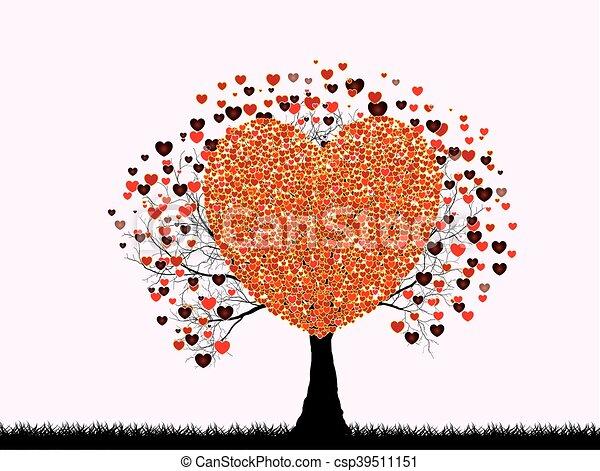 デザイン, 愛, あなたの, 木 - csp39511151