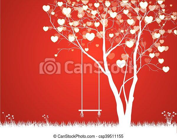 デザイン, 愛, あなたの, 木 - csp39511155