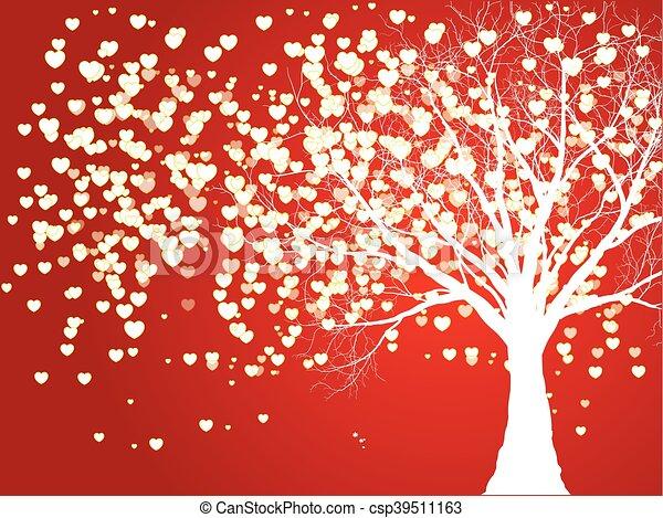 デザイン, 愛, あなたの, 木 - csp39511163