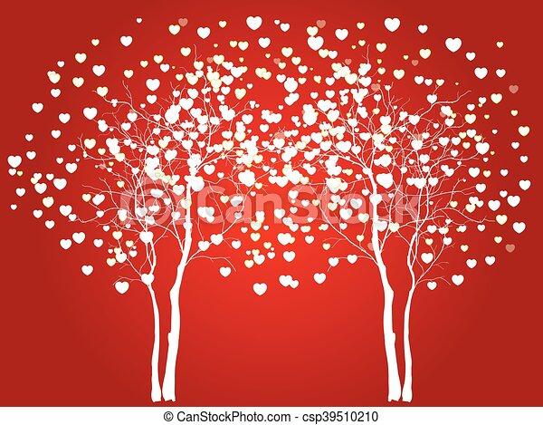 デザイン, 愛, あなたの, 木 - csp39510210