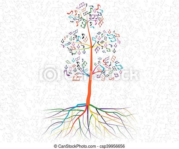 デザイン, 抽象的, 木, あなたの, ミュージカル - csp39956656