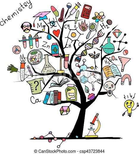 デザイン, 概念, 木, あなたの, 化学 - csp43723844