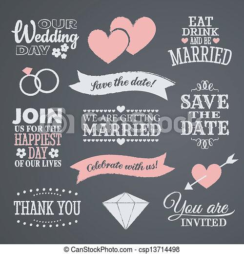 デザイン, 黒板, 結婚式 - csp13714498
