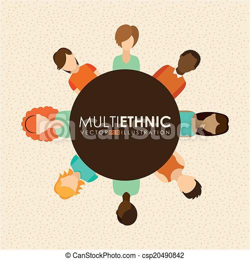デザイン, multiethnic - csp20490842