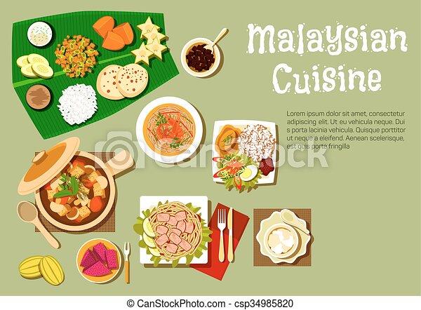 デザート, 皿, 料理, 味が良い, malaysian - csp34985820
