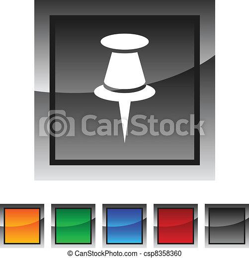 デッサンピン, icons. - csp8358360