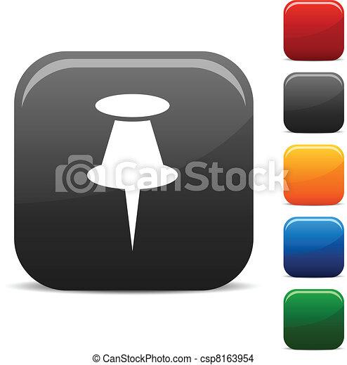 デッサンピン, icons. - csp8163954