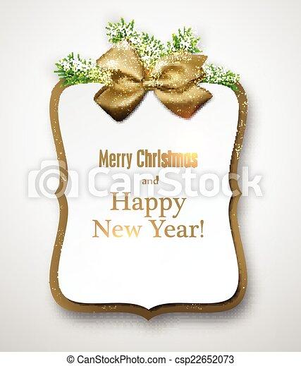 トウヒ, 紙カード, twigs., 贈り物, 白 - csp22652073