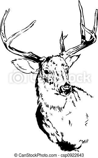 トナカイ, 鹿, イラスト. Reindeer., 鹿, イラスト, オリジナル