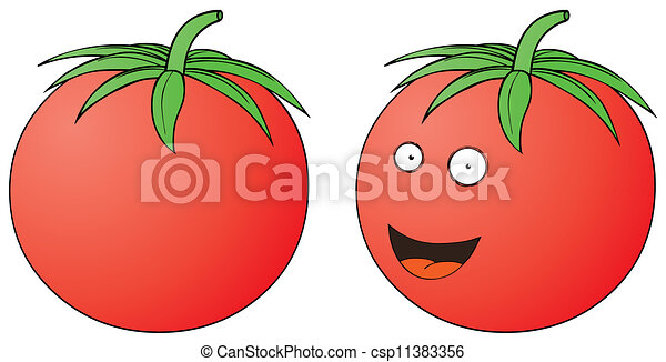 トマト, 微笑 - csp11383356