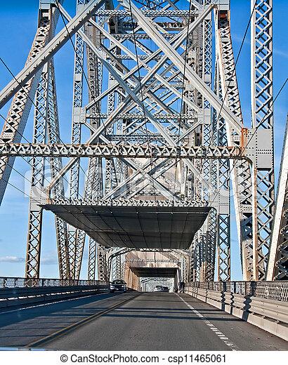 トラス, 橋, 鋼鉄, 中 - csp11465061