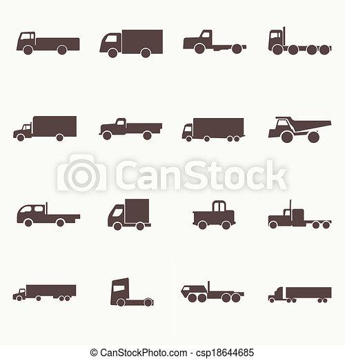 トラック輸送, アイコン - csp18644685