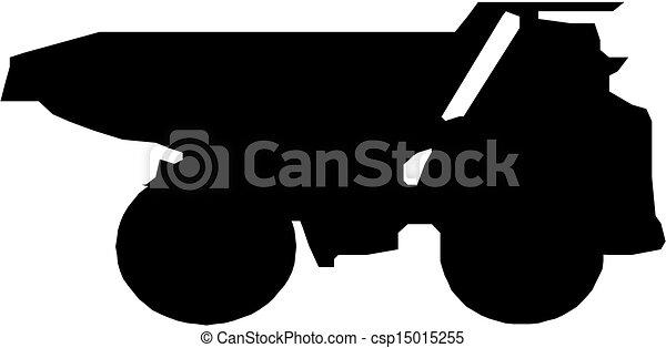 トラック, シルエット, ゴミ捨て場 - csp15015255