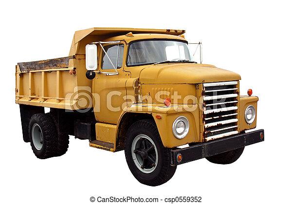 トラック, 市の, ゴミ捨て場 - csp0559352